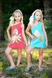 Portrait two girls Royalty Free Stock Photography