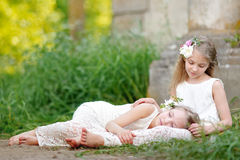 Portrait of two girls Royalty Free Stock Photography