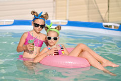 Portrait of two girls Stock Photography