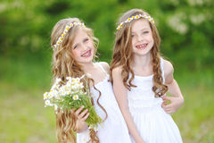 Portrait of two girls Stock Photo