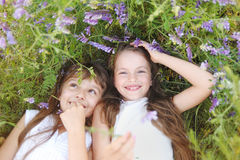 Portrait of two girls Royalty Free Stock Photos