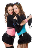 Portrait of two happy attractive young women Stock Photography