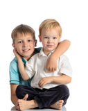 Portrait of two happy brothers Stock Photography