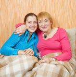 Portrait of two happy women Stock Photography