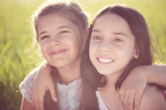 Portrait of two hispanic teen girls Royalty Free Stock Photography