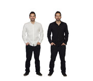 Portrait Of Two Identical Man Royalty Free Stock Images