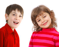 Portrait of two kids Stock Photo