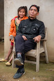 Portrait of two Laotian people. Stock Photography