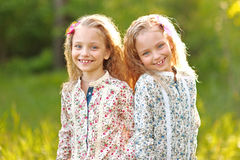 Portrait of two little girls Royalty Free Stock Photography