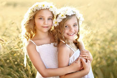 Portrait of two little girls Royalty Free Stock Photos