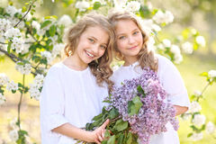 Portrait of two little girls Stock Photography