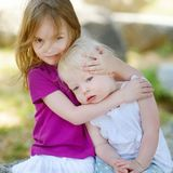 Portrait of two little sisters Royalty Free Stock Photo