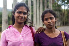 Portrait of two local women Stock Photo