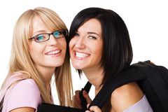 Portrait of two lovely students Royalty Free Stock Photography