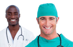 Portrait of two male doctors Royalty Free Stock Image