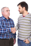 Portrait of two men, father and son Royalty Free Stock Photography