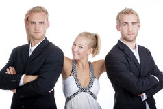 Portrait of two men and a woman Royalty Free Stock Images