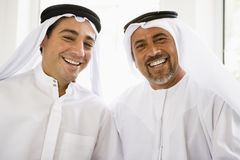 Portrait of two Middle Eastern men Stock Photos