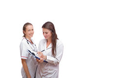 Portrait of two nurses Stock Photography