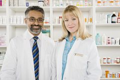 Portrait Of Two Pharmacists Stock Photography