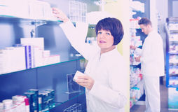 Portrait of two pharmacists Royalty Free Stock Photography