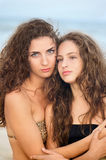 Portrait of two pretty girls Royalty Free Stock Photography