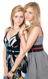 Portrait of two pretty young women Royalty Free Stock Images