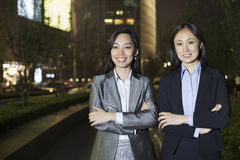 Portrait Of Two Professional Businesswomen Royalty Free Stock Photography