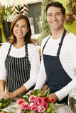 Portrait Of Two Sales Assistants In Florists Shop Royalty Free Stock Image