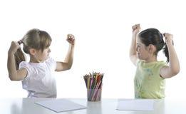 Portrait of two schoolchildren Stock Image