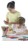 Portrait of two schoolchildren Royalty Free Stock Photos