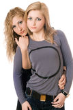 Portrait of two young women Stock Photo