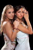 Two sexy young women Royalty Free Stock Photos