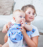 Portrait of two sisters Royalty Free Stock Photography