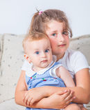 Portrait of two sisters Royalty Free Stock Image