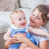 Portrait of two sisters Stock Images