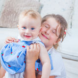 Portrait of two sisters Stock Photography