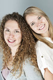 Portrait of two smiling women Stock Image