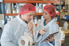 Free Portrait Two Smiling Workers In White Coats Royalty Free Stock Photography - 103104987