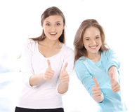 Portrait of two stunning young women Stock Image