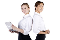 Portrait of two successful business women Stock Photo
