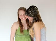 Portrait of Two teen girls Stock Photo