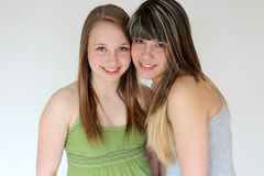 Portrait of Two teen girls Stock Images