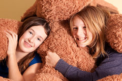 Portrait of two teenage girls Stock Image
