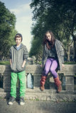 Portrait of two teenager Royalty Free Stock Photography
