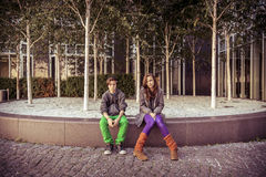 Portrait of two teenager Stock Images