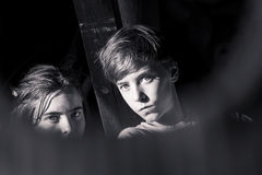Portrait of two teenagers Royalty Free Stock Photography