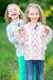 Portrait of two twins Stock Photos