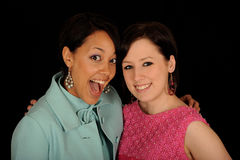 Portrait of two women royalty free stock photos