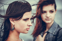 Portrait of two women Royalty Free Stock Images